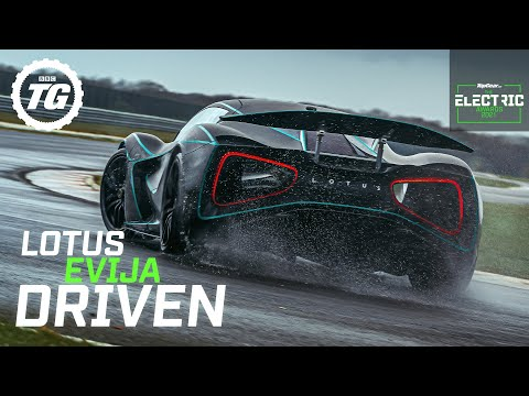 Lotus Evija EXCLUSIVE First Drive: fully electric hypercar prototype track tested | Top Gear