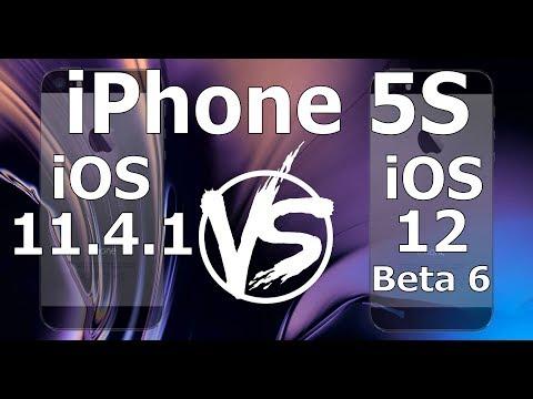 Speed Test : iPhone 5S - iOS 12 Beta 6 vs iOS 11.4.1 (iOS 12 Public Beta 5 Build 16A5345f)