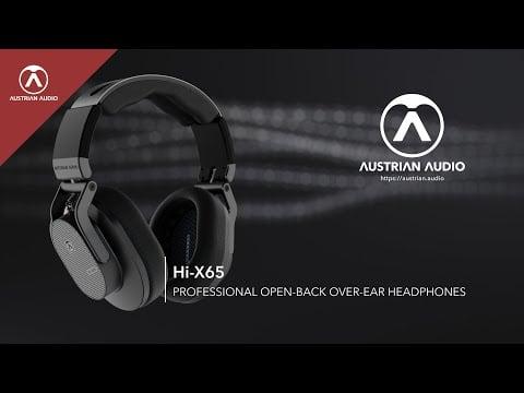 Austrian Audio Hi-X65 Professional Open-Back Over-Ear Headphones for Mixing & Mastering