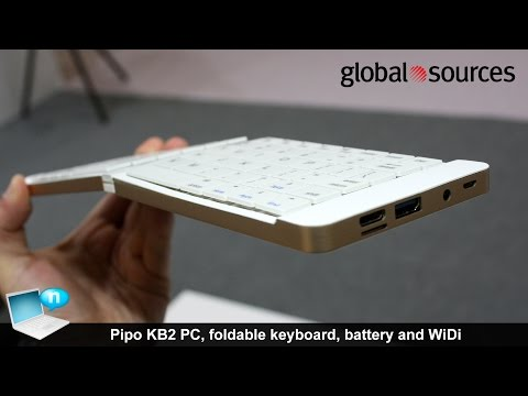 Pipo KB2 PC, foldable keyboard, battery and WiDi