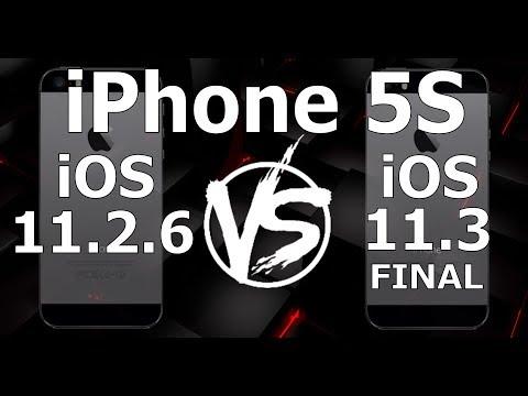 iPhone 5S : iOS 11.3 Final vs iOS 11.2.6 (Build 15E216)