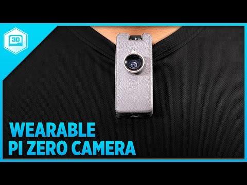 Wearable Camera using Raspberry Pi Zero #3DPrinting