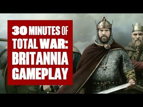 30 minutes of Total War: Thrones of Britannia Gameplay (Campaign/Battle)
