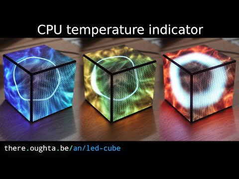 LED Cube (showing your CPU status)