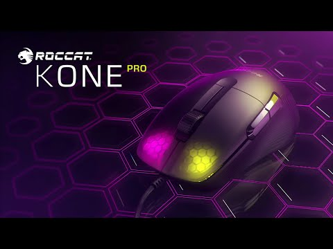 ROCCAT Kone Pro | Lightweight Ergonomic Optical Performance Gaming Mouse with RGB lighting