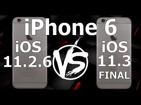 iPhone 6 : iOS 11.3 Final vs iOS 11.2.6 (Build 15E216)