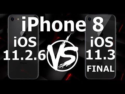 iPhone 8 : iOS 11.3 Final vs iOS 11.2.6 (Build 15E216)