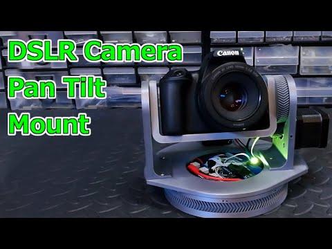 3D Printed DSLR Camera Pan Tilt Mount (Arduino/Stepper Driven) 2020