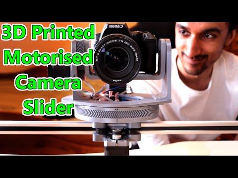 3D Printed Motorised DSLR Camera Slider With Pan/Tilt Head (Arduino/Stepper Driven) 2020