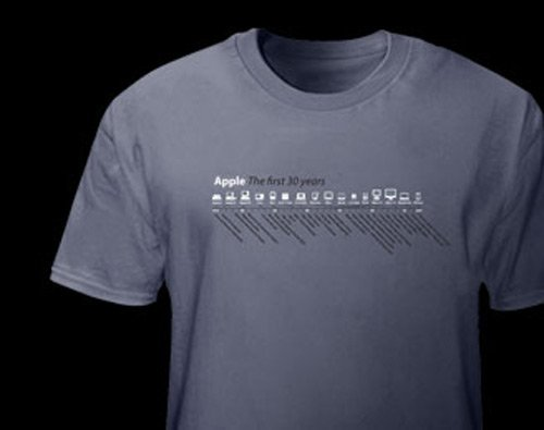apple timeline t-shirt