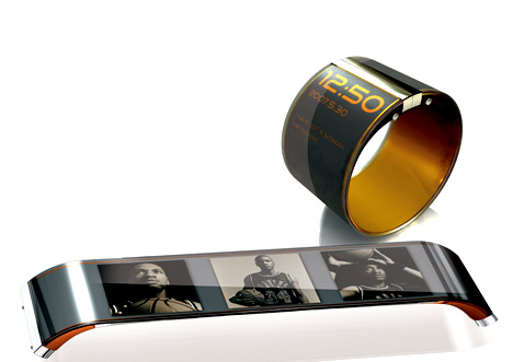 Cool Concepts - E-Paper Bracelet Video Player