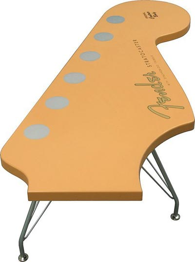 The Fender Stratocaster Coffee Table