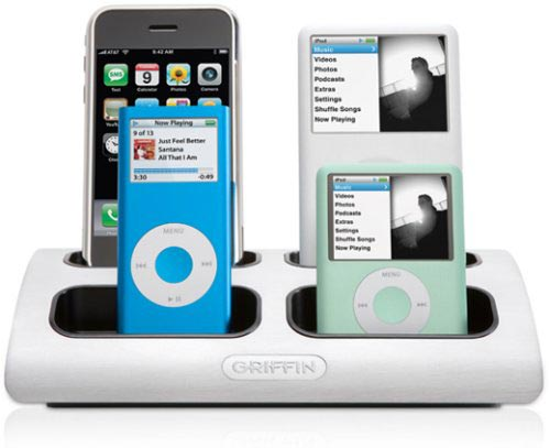 Charge multiple iPods with Griffins new iPod Doc