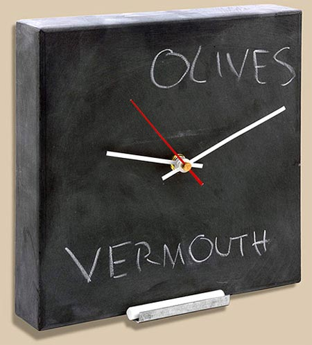 Geeky Clocks - The Blackboard Wall Clock
