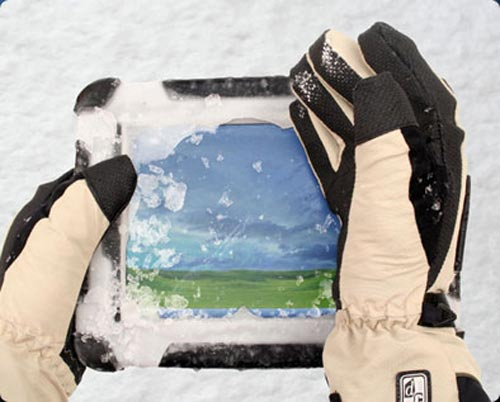 Ropers Duros 8-inch Rugged Tablet PC works in the snow