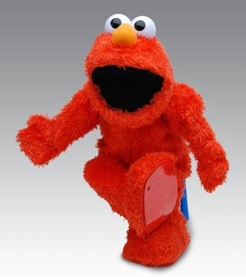 real Muppet, Elmo, from Sesame Street.