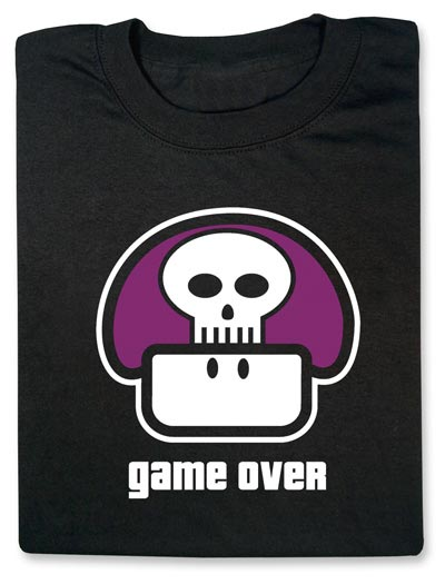Geeky Clothing - The Game Over Mushroom T-Shirt