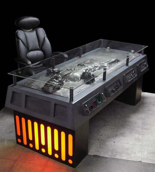 Cool Mods - The Han Solo in Carbonite Desk
