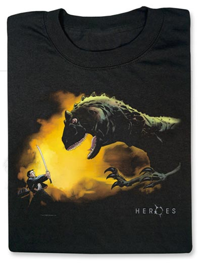 Geeky Clothing – Heroes – Hiro and the Dinosaur T-Shirt