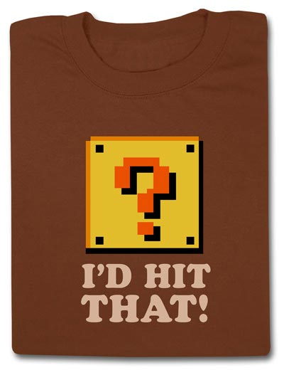 Geeky Clothing - The Mario Id Hit That T-Shirt