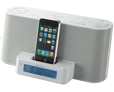 Sonys new iPhone Alarm Clock Dock