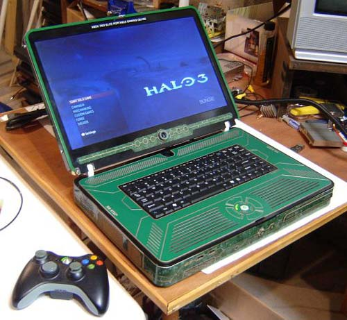 The Halo 3 Xbox 360 Elite Laptop Mod