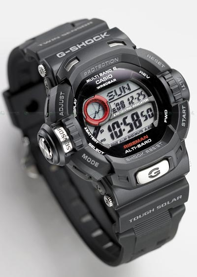 Casio's new G-Shock Gw-9200 Riseman watch has everything but the kitchen sink
