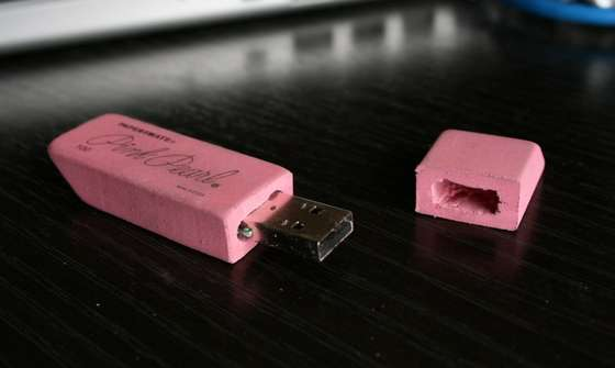 Fun Mods - The Pink Eraser USB Drive