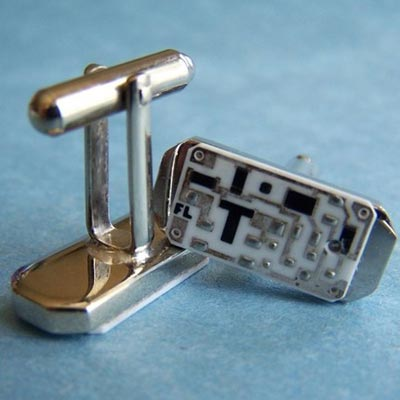Totally Geeky - The Ceramic Circuit Board Cufflinks