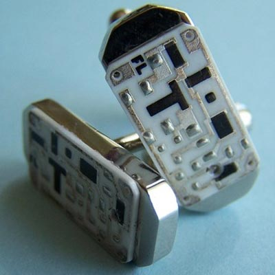 Ceramic Circuit Board Cufflinks