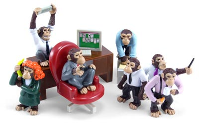 Geeky Toys - The Office Monkeys Playset