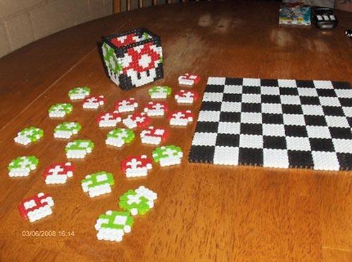 Super Mario Mushroom Checkers Set