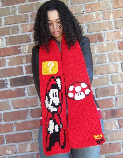 Geeky Clothing - The Handmade Super Mario Limited Edition Scarf