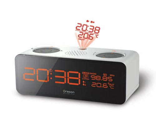 funky gadgets the atomic projection clock. Black Bedroom Furniture Sets. Home Design Ideas