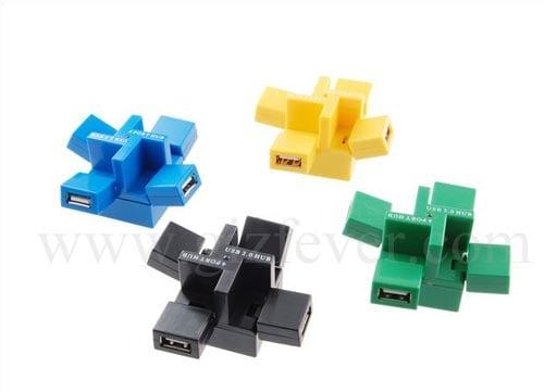 4 ports cube hub