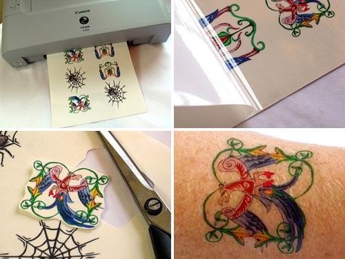 inkjet tatoo paper