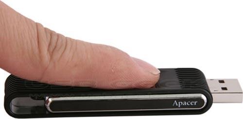 apacer 8gb usb fingeprint flash drive