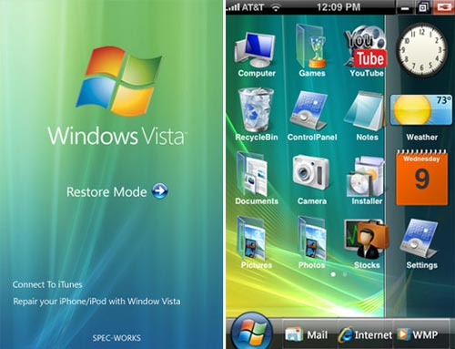 vista iphone skin