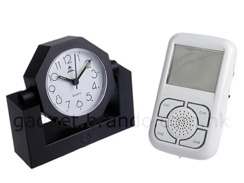 spy camera alarm clock
