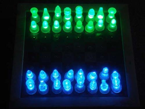 diy led chess set