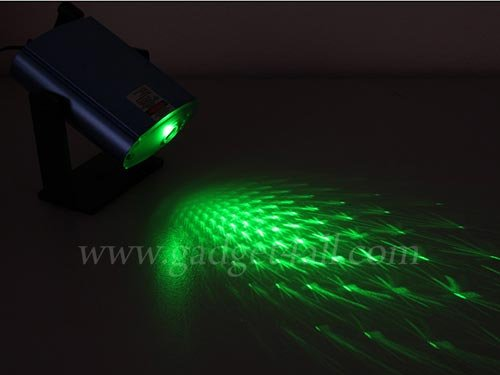 Check out this fun mini green laser star projector.
