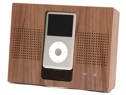 wooden ipod dock