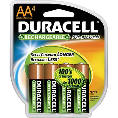 duracell pre-charged batteries