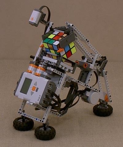 lego rubiks cube solving robot