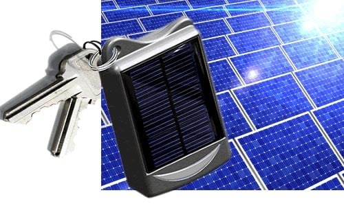 solar charger keyring