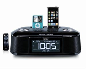 iPhone Accessories – The iLuv Dual iPhone Dock Alarm Clock – iMM173