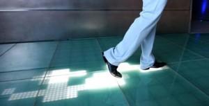 Sensacell Interactive Floor – Leaves your digital footprints on the floor