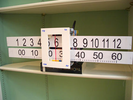 slide rule lego clock