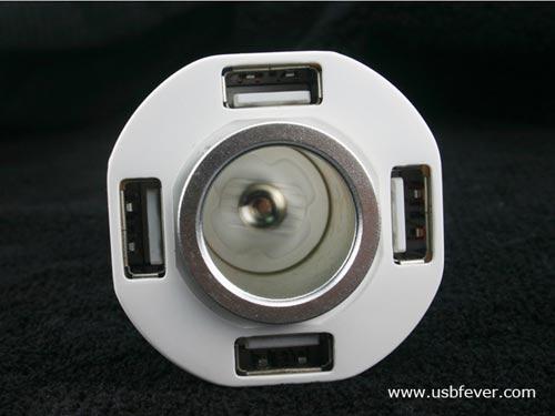 Мобильная новость: Мобильная новость: Зарядка для автомобиля может восполнить заряд сразу четырех USB-девайсов.