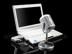 usb retro wireless microphone